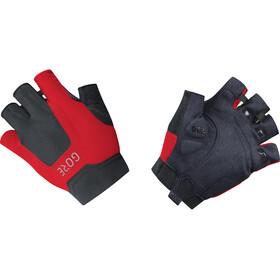 GORE WEAR C5 Halve Vinger Handschoenen, zwart/rood